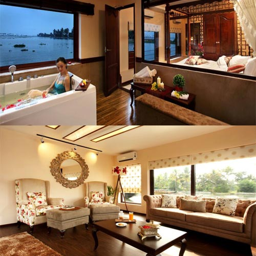 Ultra Luxury Houseboat Interior  MyHouseboats.com